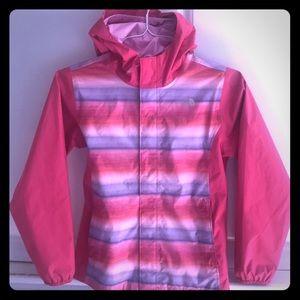 Girls North Face Rain Jacket Size Lg (14-16)